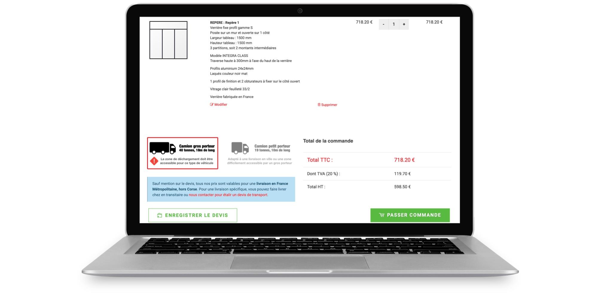 Enregistrer votre devis de verrière type atelier en ligne