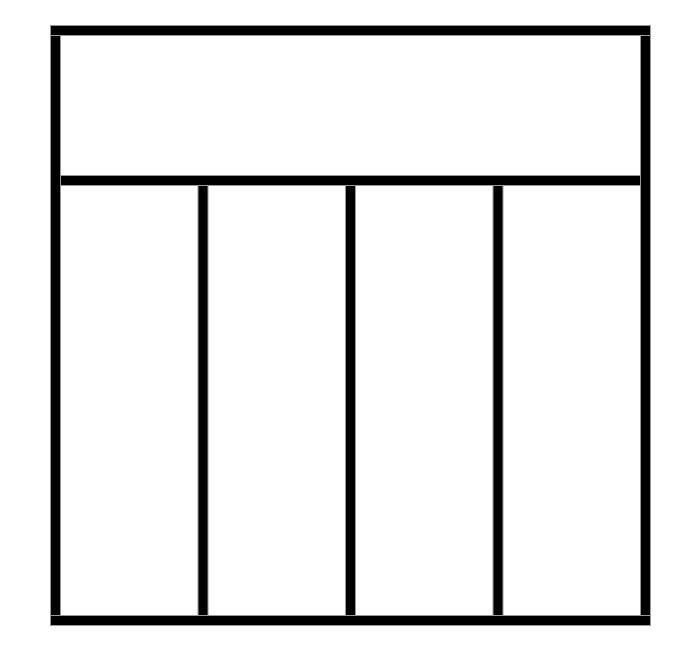 Verrière intérieure INTEGRA CLASS avec traverse horizontale sur le haut